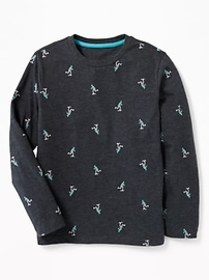 Printed Crew-Neck Tee for Boys