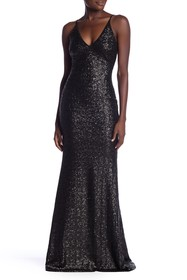 Dress the Population Vanessa V-Neck Sequin Dress