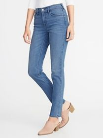 Mid-Rise Straight Jeans for Women