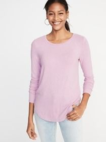 Relaxed Plush-Knit Tee for Women