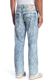 True Religion Distressed Faded Straight Leg Jeans
