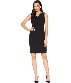 Tahari by ASL Side Ruched Sleeveless Dress with Co