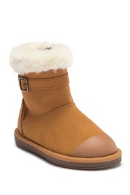 Stride Rite Lydia Faux Fur Suede Boot (Toddler) -