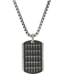 Steve Madden Small Cross Pattern Dogtag Necklace w