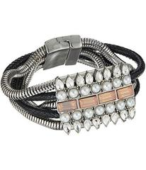 GUESS Wide Multi Snake Chain with Stone Accent & M