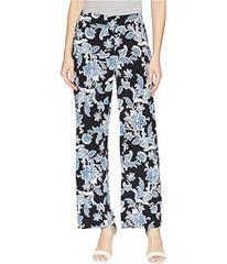 Vince Camuto Woodblock Floral Wide Leg Pull-On Pan