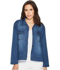 Liverpool Cropped Trapeze Jacket with Front Chest