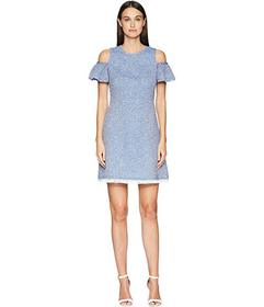 Kate Spade New York Cold Shoulder Tweed Dress