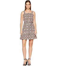 Kate Spade New York Floral Mosaic Poplin Dress