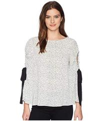 Vince Camuto Bell Sleeve Flower Ditsy Tie Cold Sho