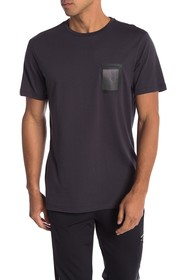 Karl Lagerfeld Mesh Pocket Short Sleeve Tee