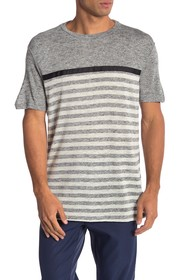 Karl Lagerfeld Heathered Stripe Crew Neck Tee