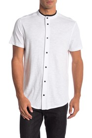 Karl Lagerfeld Short Sleeve Knit Button Down Henle