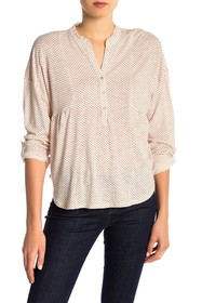 Lucky Brand Patterned Long Sleeve Henley