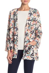 French Connection Delphine Front Zip Print Jacket