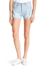 Levi's LMC Distressed & Frayed Denim Shorts