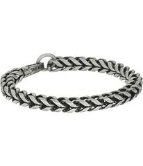 """Steve Madden Stainless Steel 9"""" Twisted Curb Chain"""