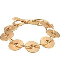 Robert Lee Morris Gold Disc Link Bracelet