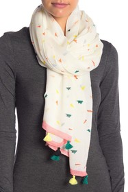 Rebecca Minkoff Paper Airplane Oblong Scarf With T