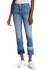 7 For All Mankind Edie Frayed Straight Leg Jeans