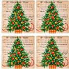 Home Essentials Ceramic Christmas Tree Coasters -