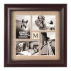 Malden 4 Opening Walnut Barnside Collage Frame