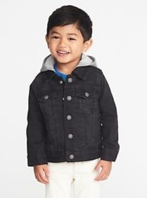 Hooded Denim Jacket for Toddler Boys