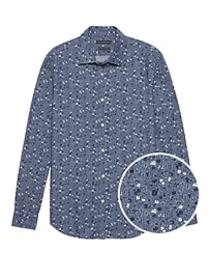 Grant Slim-Fit Floral Chambray Shirt