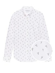 Grant Slim-Fit Luxe Poplin Bird Print Shirt