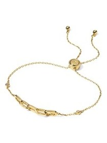 Everyday Luxuries 14k Gold-Plated CZ Link Slider