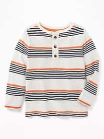 Striped Henley for Toddler Boys