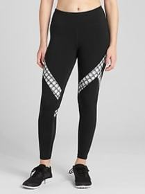 GFast Mid Rise Print Insert 7/8 Leggings in Eclips