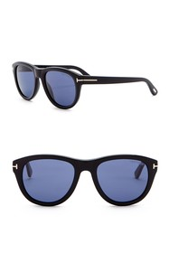 Tom Ford Benedict 53mm Rounded Sunglasses