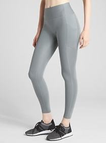 GFast High Rise Perforated Panel Leggings in Sculp