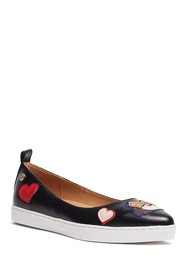 LOVE Moschino Embroidered Pointed Toe Flat