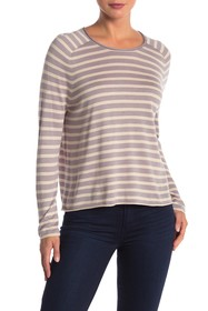 John & Jenn Striped Lightweight Pullover Sweater