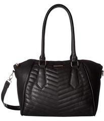 Rampage Chevron Quilted Satchel