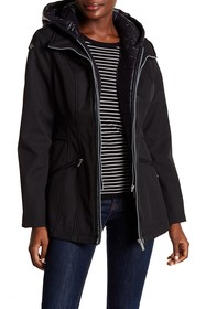 French Connection Quilted Bib & Hooded Coat