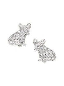 Pave French Bulldog Stud Earring