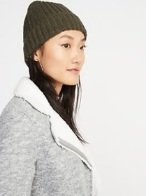Rib-Knit Beanie for Women