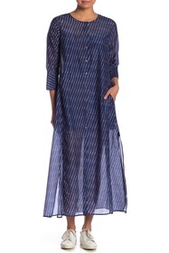 Theory Weekend Button Down Maxi Dress
