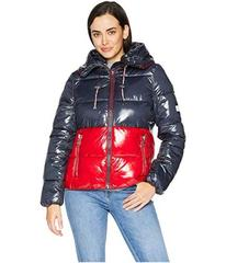 Tommy Hilfiger Color Block Puffer with Hood