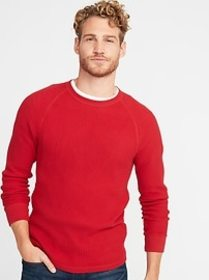 Chunky Textured Thermal-Knit Tee for Men