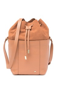 Halston Heritage Suede And Leather Drawstring Buck