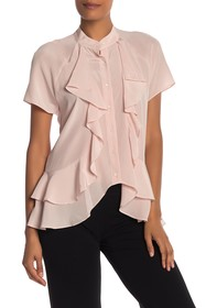 Nicole Miller Front Ruffle Blouse