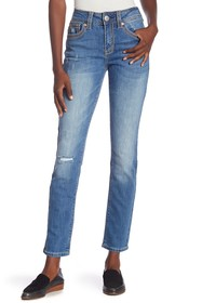 Seven7 Mid-Rise Straight Leg Jeans