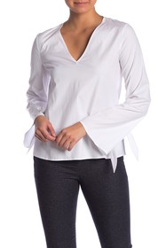 Theory Tie Sleeve Blouse