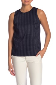 Theory Emlay Bannon Striped Linen Blend Shell
