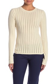Theory Pointelle Wrap Front Pullover
