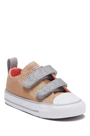 Converse Double Vamp Strap Sneaker (Toddler)